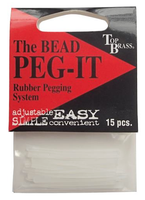 Peg-It 15 pack or 50 pack, Red or Clear