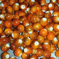 CREEK CANDY BEADS Toxic Orange 8mm SINKZ (15 pack)