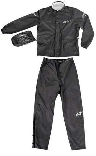 Alpinestars Quick Seal Out Waterproof Over Jacket & Pants - Black