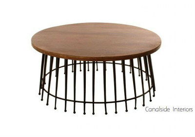 Ferris Wheel Round Industrial Coffee Table Sold Out Canalside