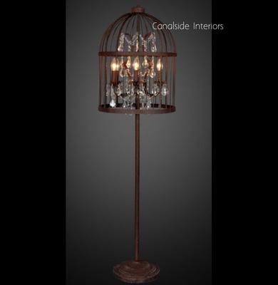 Vintage Birdcage Floor Lamp