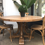 Artisan Parquetry Top Round Dining Table