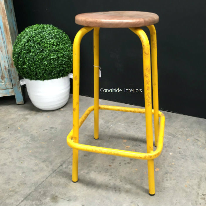 Axis Industrial Bar Stool Distressed Yellow IN STOCK  : 2016032623385699246149536911112801280 from www.canalside.com.au size 701 x 701 png 453kB