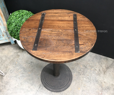 Cafe Table Tops Metal Insert Round SALE Canalside Interiors - Round metal cafe table