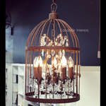 Vintage Birdcage Industrial Chandelier