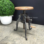 Valor Adjustable Industrial Stool with Crank