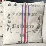 Cushion - Blue/Red Stripe 1862