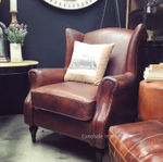 Cambridge Aged Leather Wingback