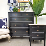 Peninsula 5 Drawer Chest and Bedside