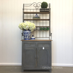 Market Hill French Country Rustic Sideboard / Cupboard with Metal Hutch