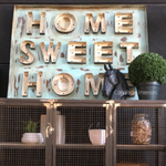 Home Sweet Home Vintage Sign