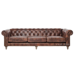 Pasadena Chesterfield 4-Seater Aged Leather Sofa