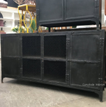 Foundry 4 Door Industrial TV Sideboard with Mesh Doors