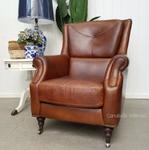 Eton Aged Leather Wingback