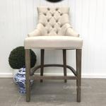 Dashwood Upholstered Buttoned Back Bar Stool