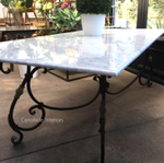 Peralta Dining Table with Carrara Marble Top
