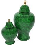 Assorted Green Malachite Temple Jars