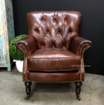 Knox Aged Leather Armchair