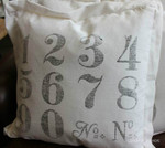 Numbered Cushion with Border