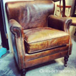 Doctus Aged Leather Armchair