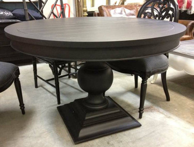 porter round dining table black sold out canalside interiors. Black Bedroom Furniture Sets. Home Design Ideas