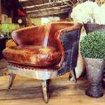 *VAULT Aged Leather Armchair