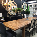 Florence Marble Inlay Double Extension Dining Table