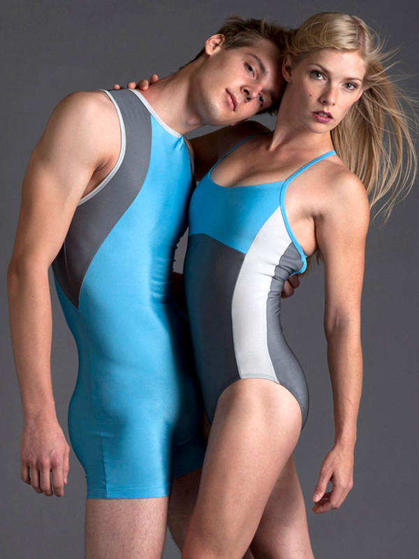 Fee Leotard with stripe