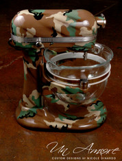 Old School Woodland BDU custom painted KitchenAid Mixer {Artisan Mixer Included}