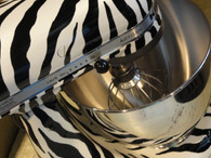 Pearl Zebra Custom KitchenAid Mixer *ARTWORK ONLY {mixer not included}