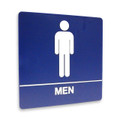 "8"" x 8"" Restroom Sign - ""MEN"", (4) Standard Colors"