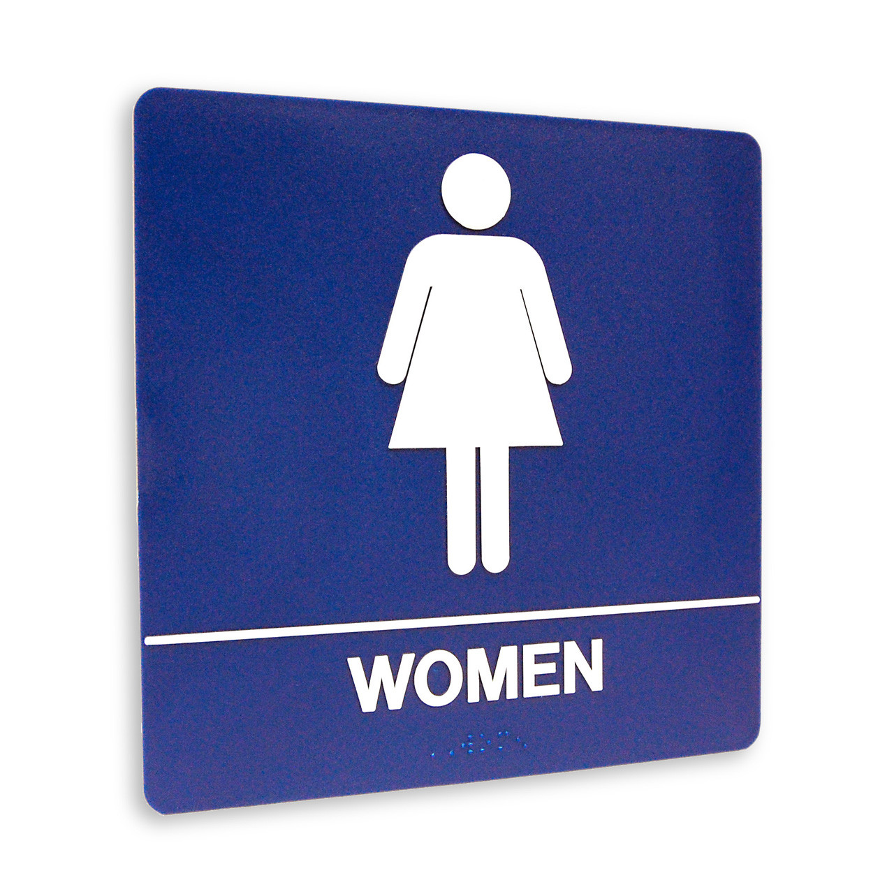 Restroom Sign WOMEN 4 Standard Colors The Kroy Sign Store