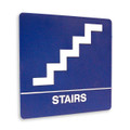 "8"" x 8"" Braille Sign - ""STAIRS"", (4) Standard Colors"