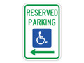 "18"" x 12"" - Federal R7-8 Reserved Parking, Left Arrow"