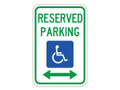 "18"" x 12"" - Federal R7-8 Reserved Parking, Both Directions"