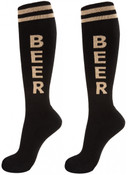 Unisex Black and Tan Beer Knee High Socks