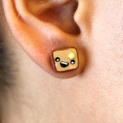 Toast With Butter Stud Earrings