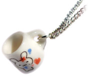 Kiss You Bunny Mug Necklace