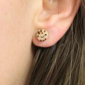 Chocolate Chip Cookie Stud Earrings