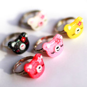 Miss Sleepy Bear Ring - in many colors!