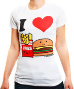 I Love Burger and Fries T-Shirt