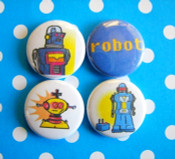 Old School Robot Magnets