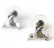 Dainty Hummingbird Stud Earrings