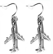 Dangle Airplane Earrings