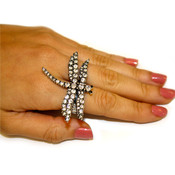 Zad Rhinestone Dragonfly Stretch Ring