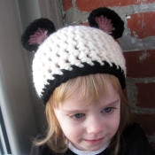 Handmade Panda Hat for toddlers