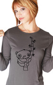 Little Panda Bear Long Sleeve Shirt