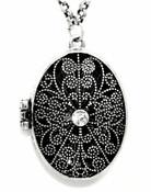Floral Locket Necklace