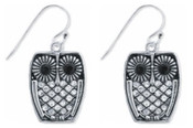 Rhinestone Owl Earrings