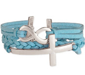 Suede Infinity & Cross Bracelet - AVAILABLE IN 3 COLORS!